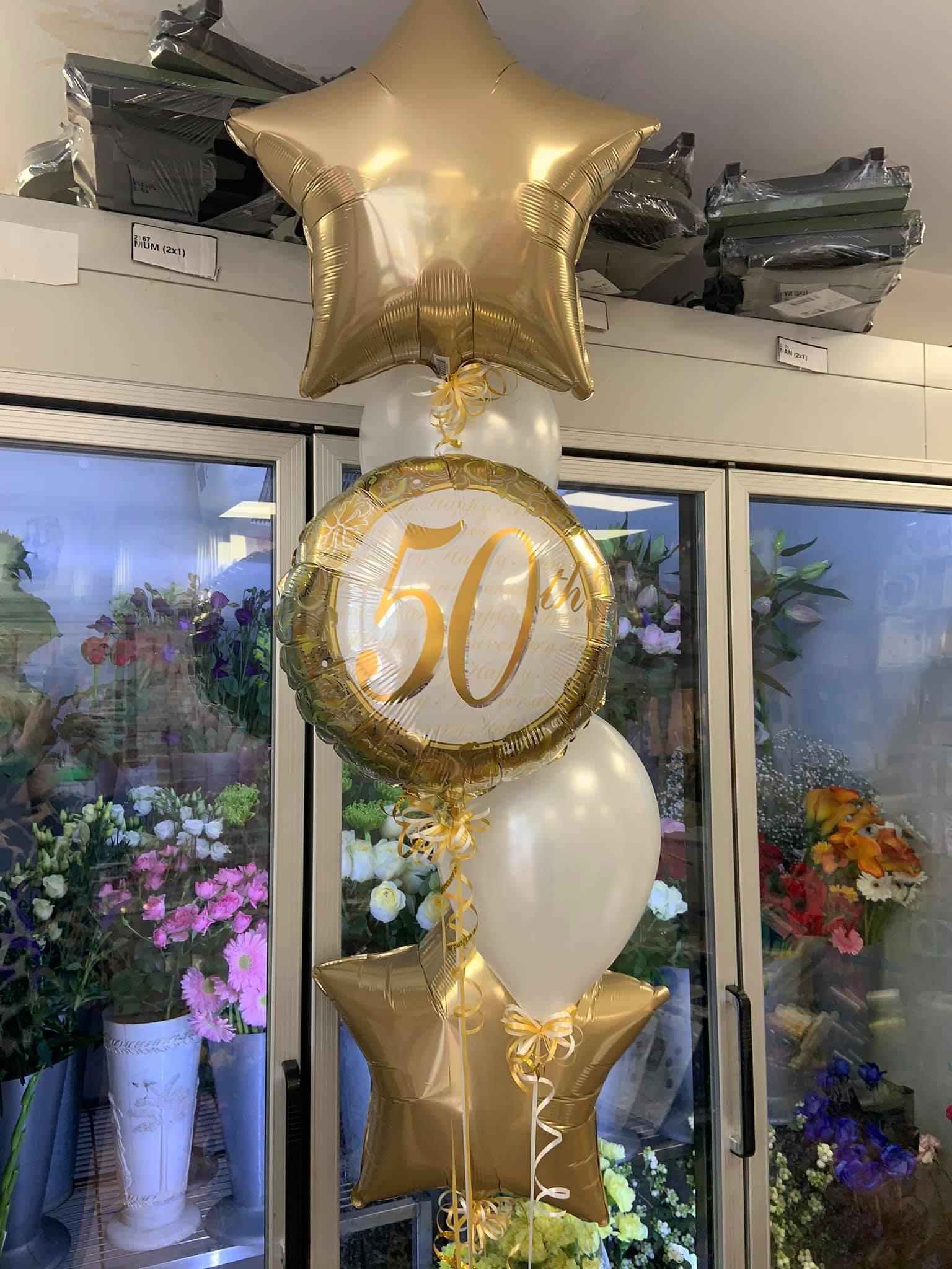 Gold 50th Birthday