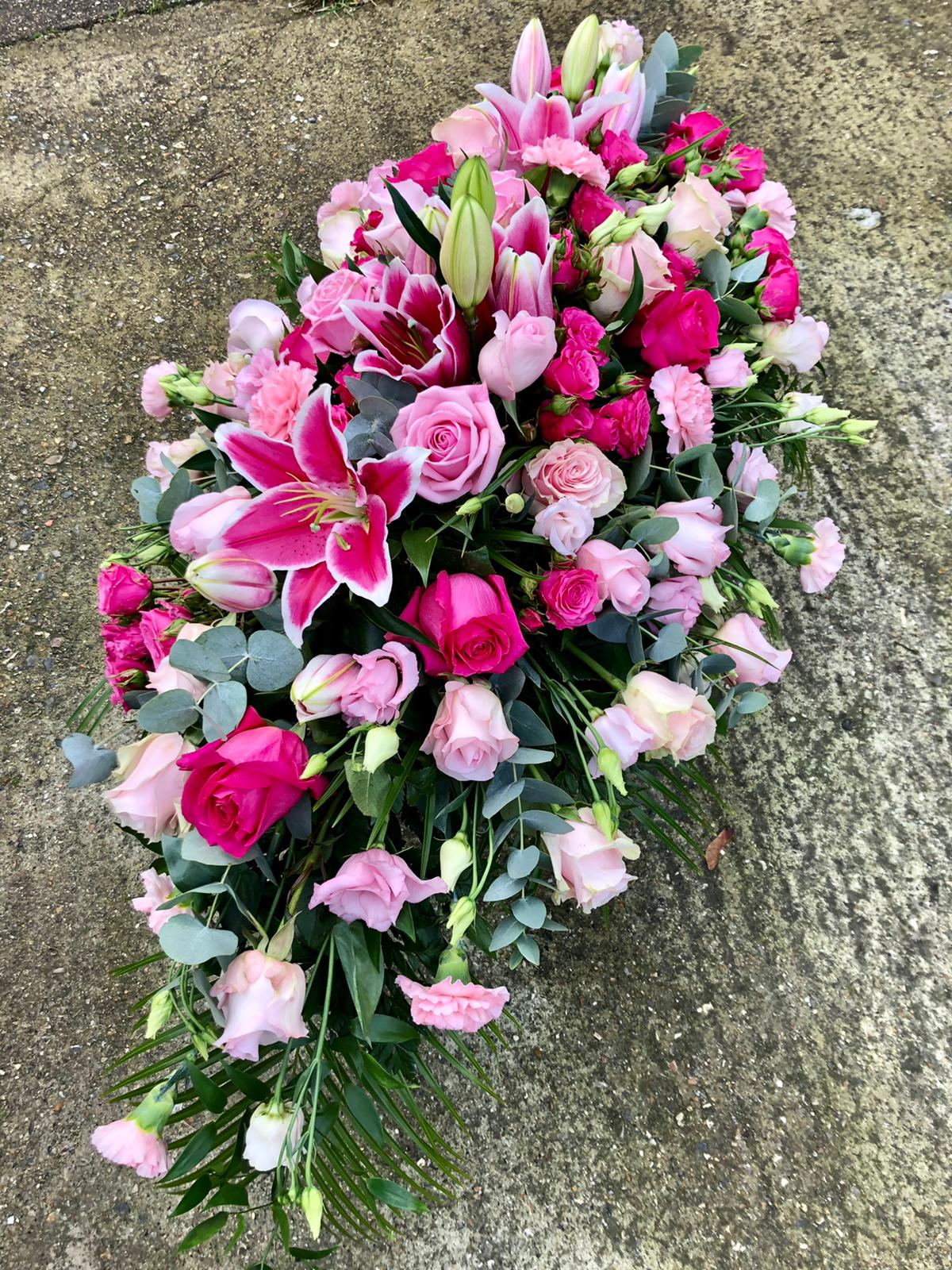 Pink Coffin Spray from £125.00