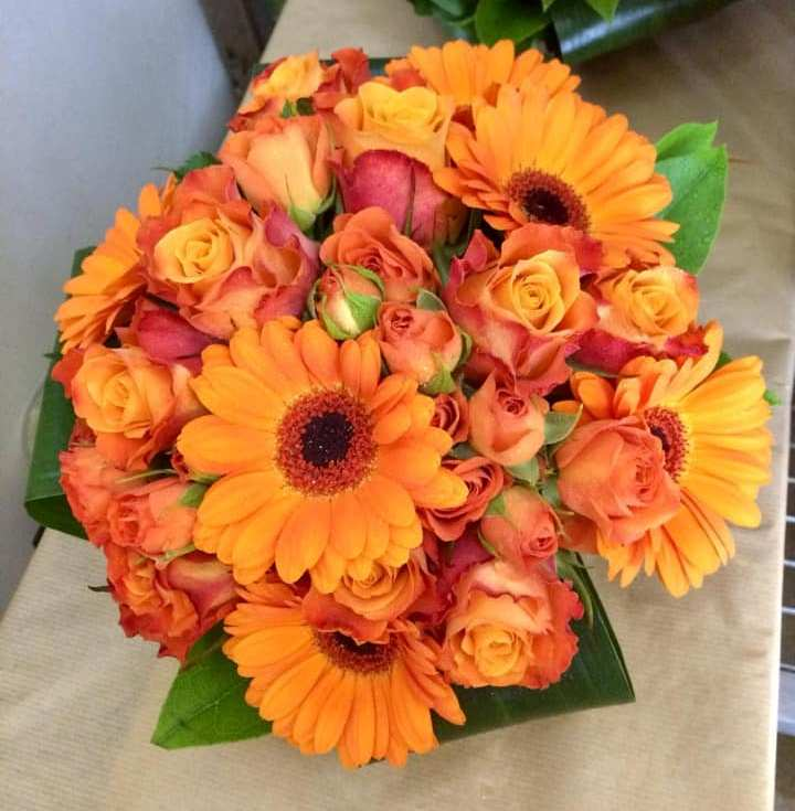 Orange Bridesmaid's Bouquet