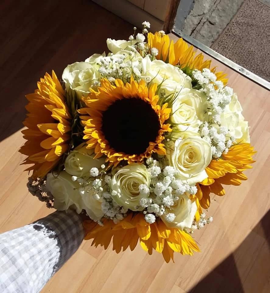 Sunflower Bride's Bouquet