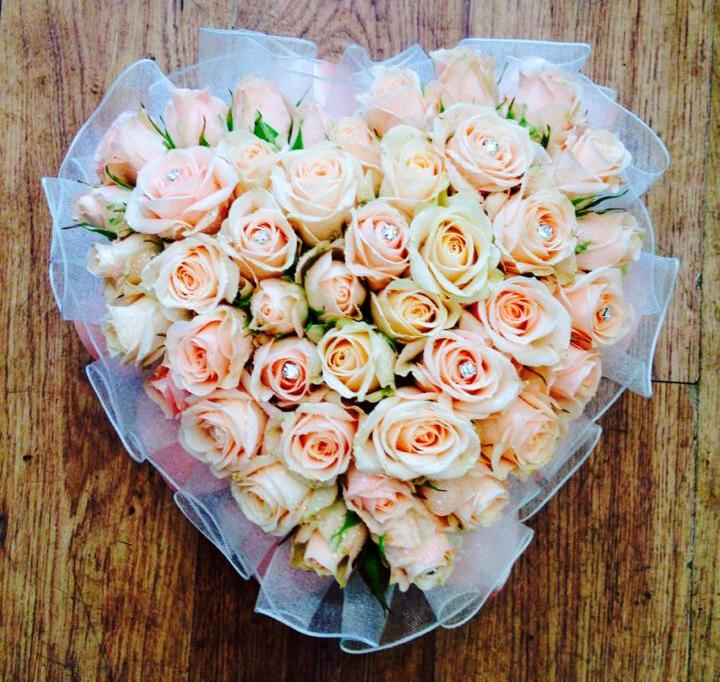 Pale Pink Rose Heart