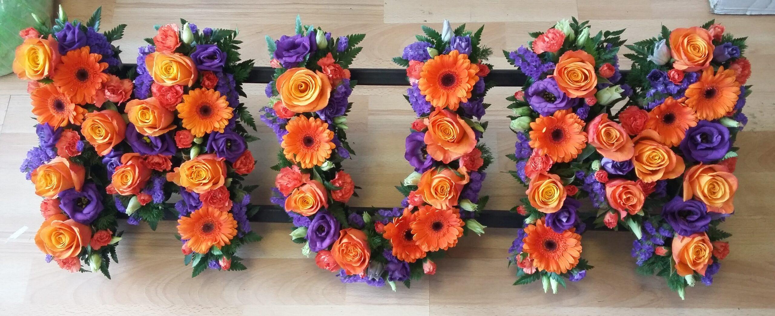 Purple & Orange Loose MUM