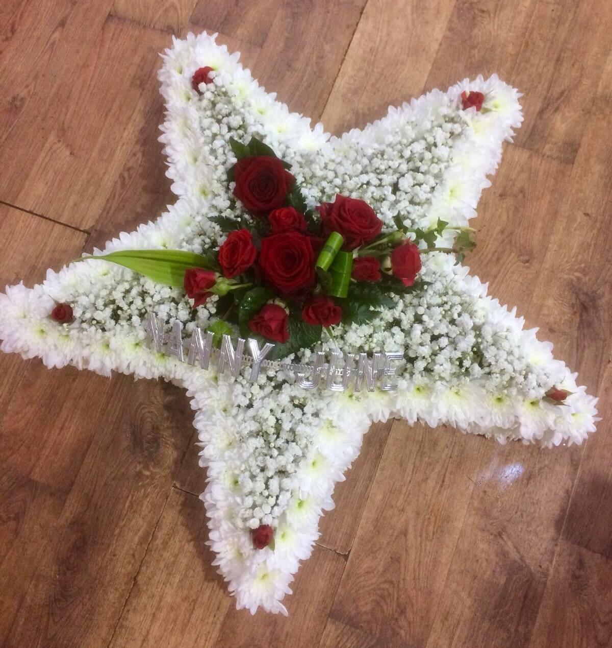 Gypsophila Star with Red Rose Spray