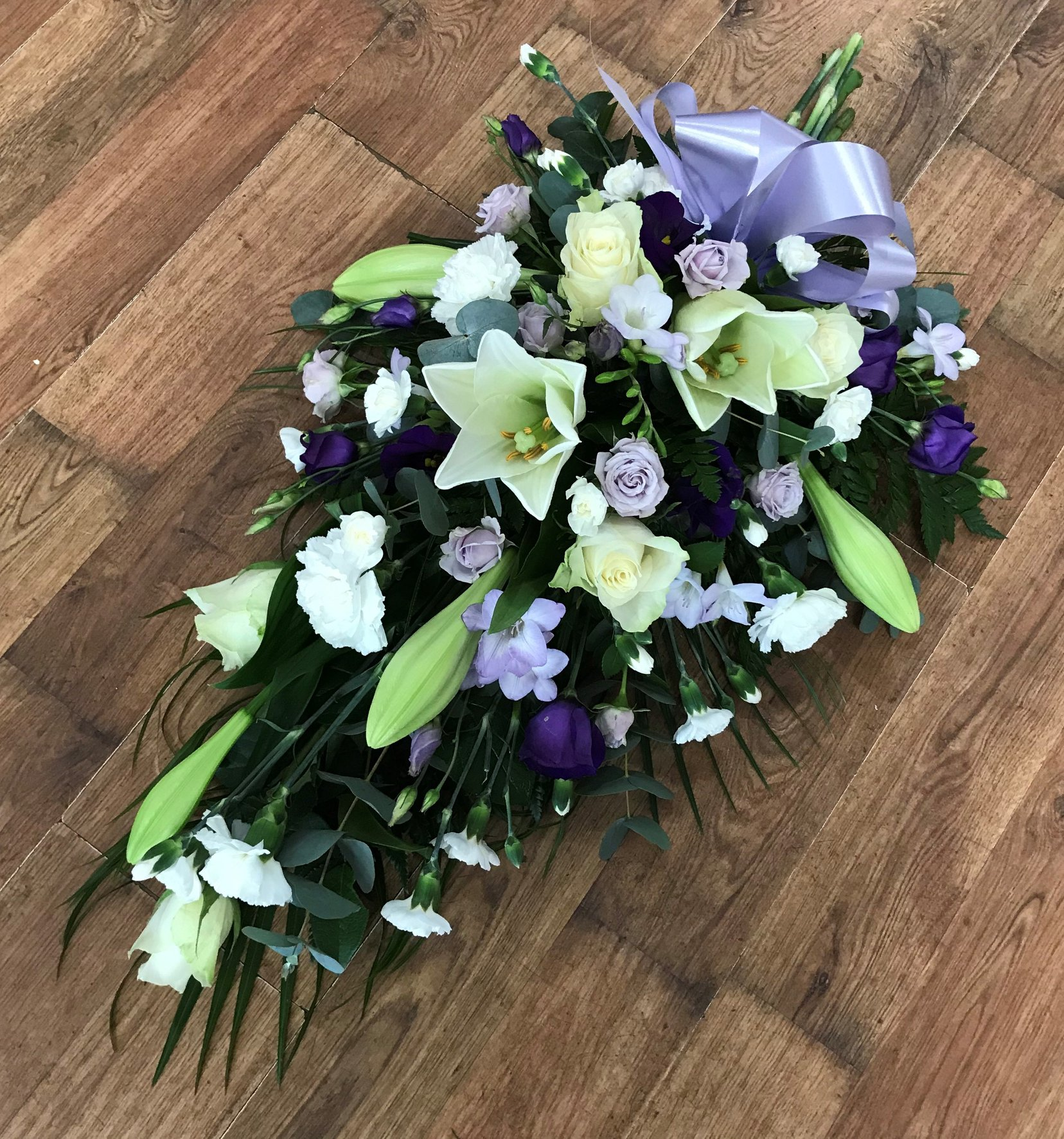 Lilac Funeral Sheaf from £50.00