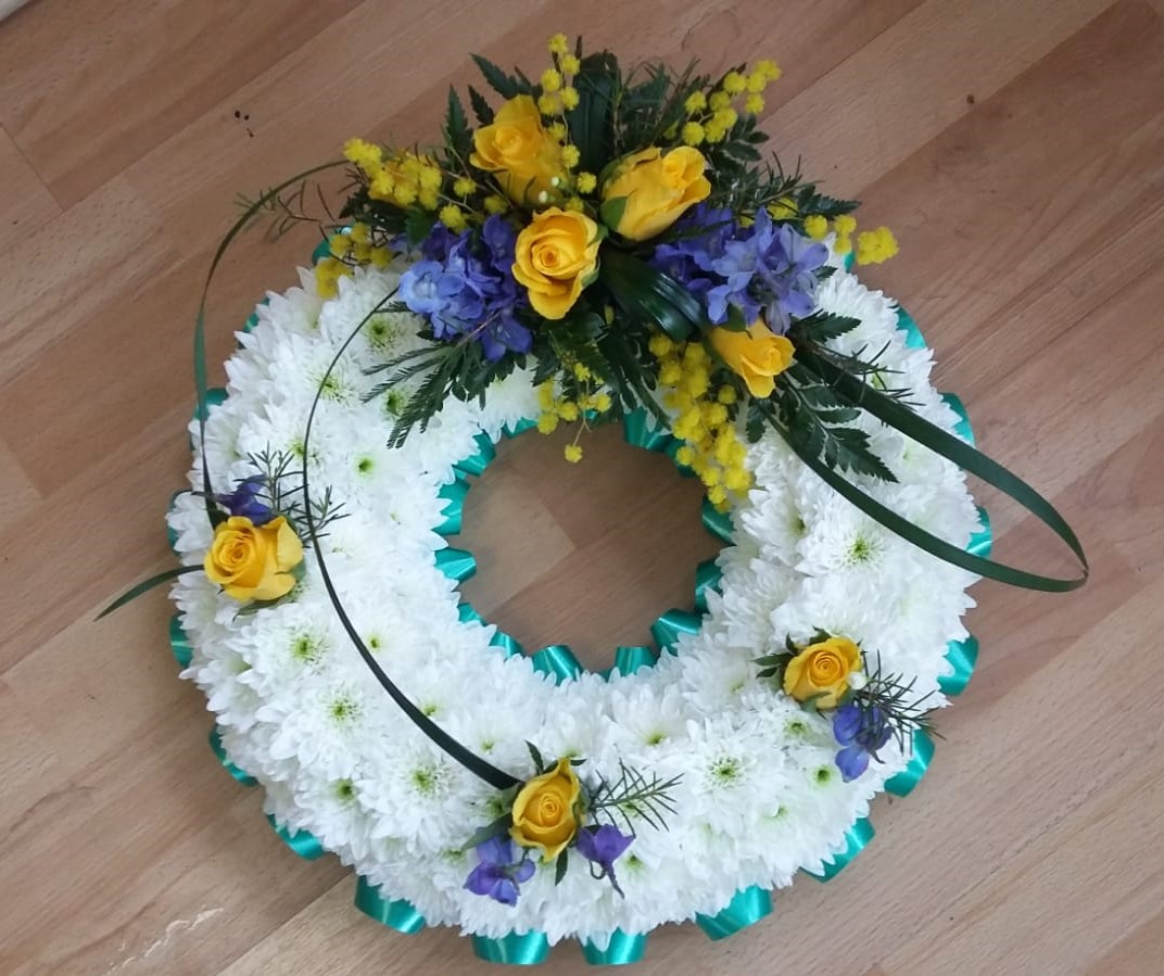 Blue & Yellow Based Wreath