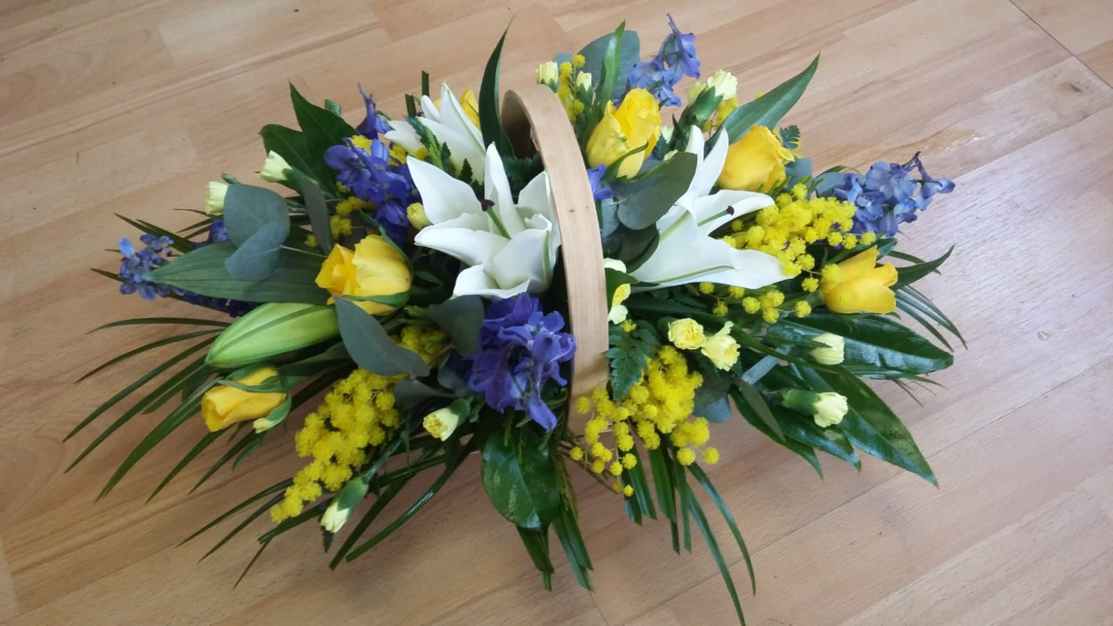 Yellow & Blue Basket from £40.00