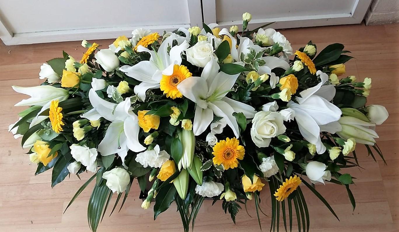 White & Yellow Coffin Spray