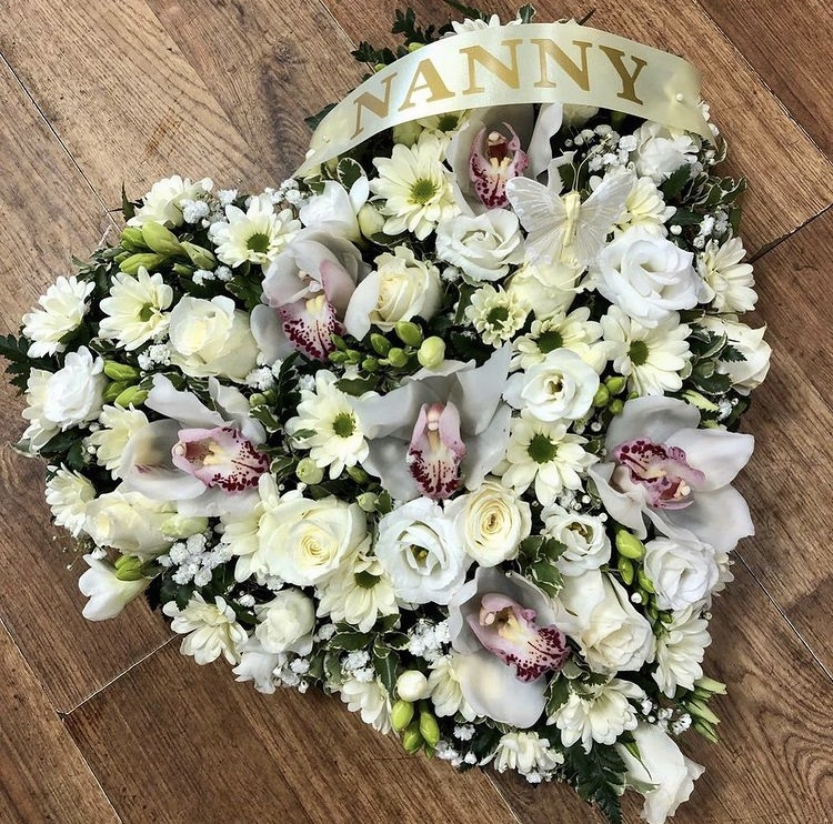 Loose Heart with Orchids from £50.00