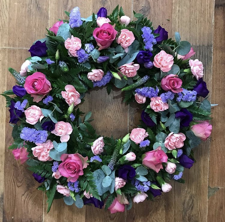 Loose Pink & Purple Wreath from £40.00