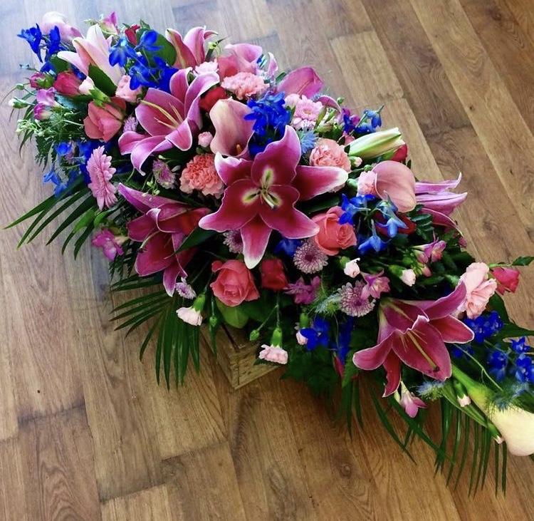 Blue & Pink Coffin Spray