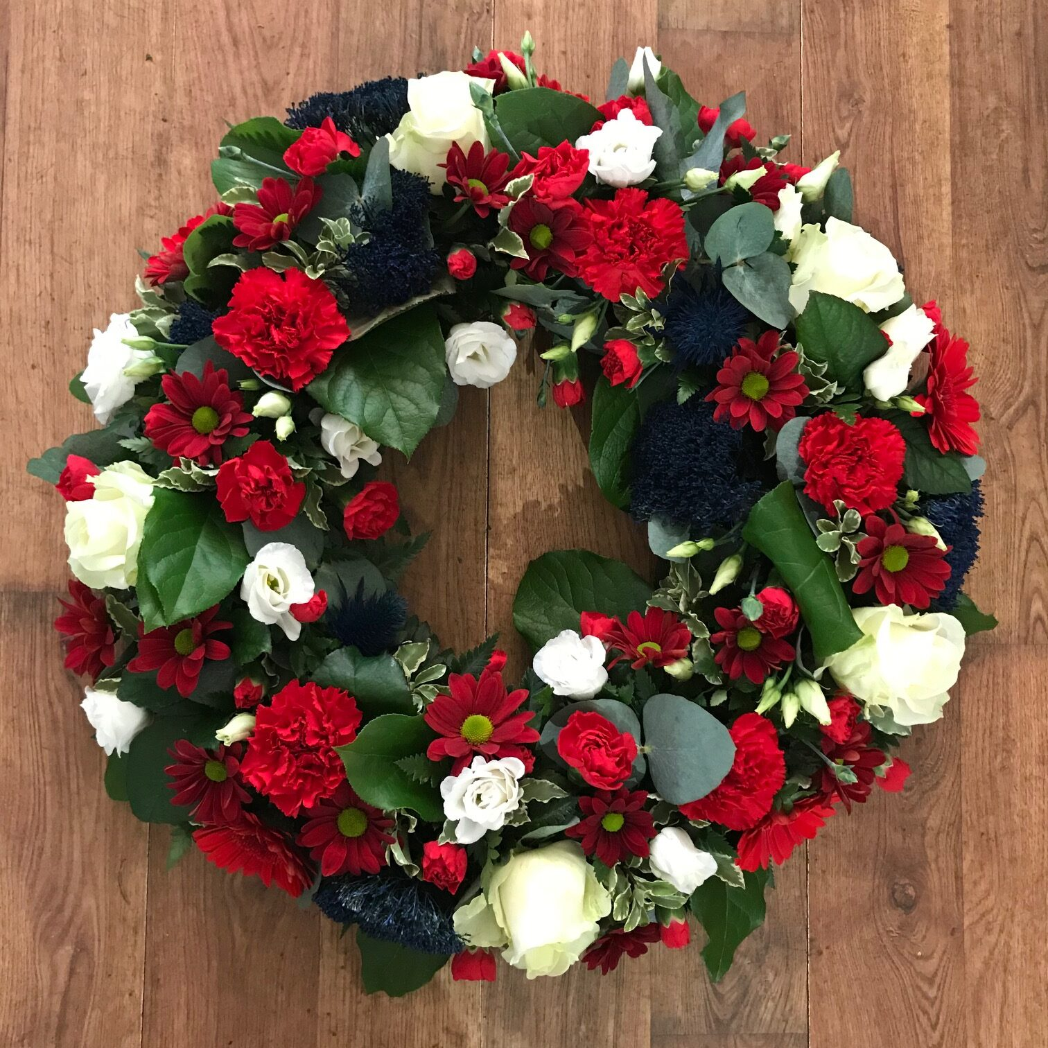 Red, White & Blue Loose Wreath