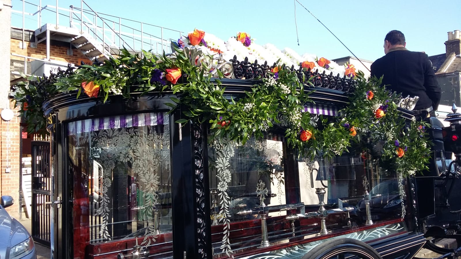 Orange & Purple Carriage Garland £16.00 per foot