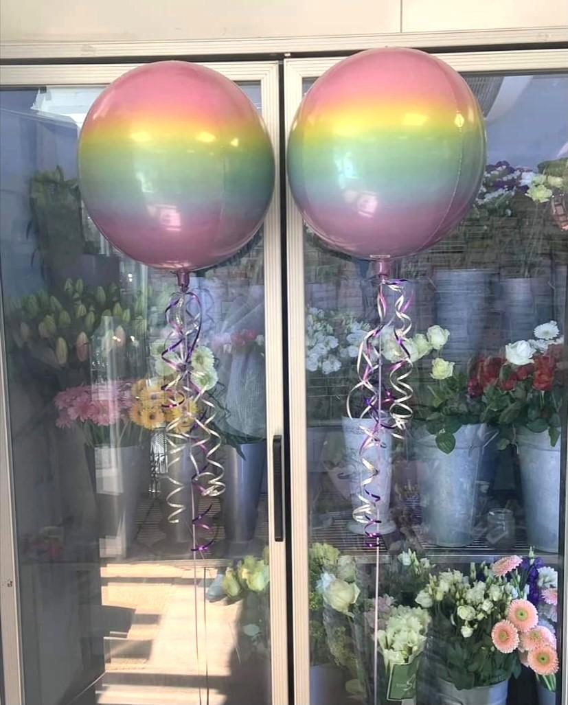 Rainbow Orb Balloons